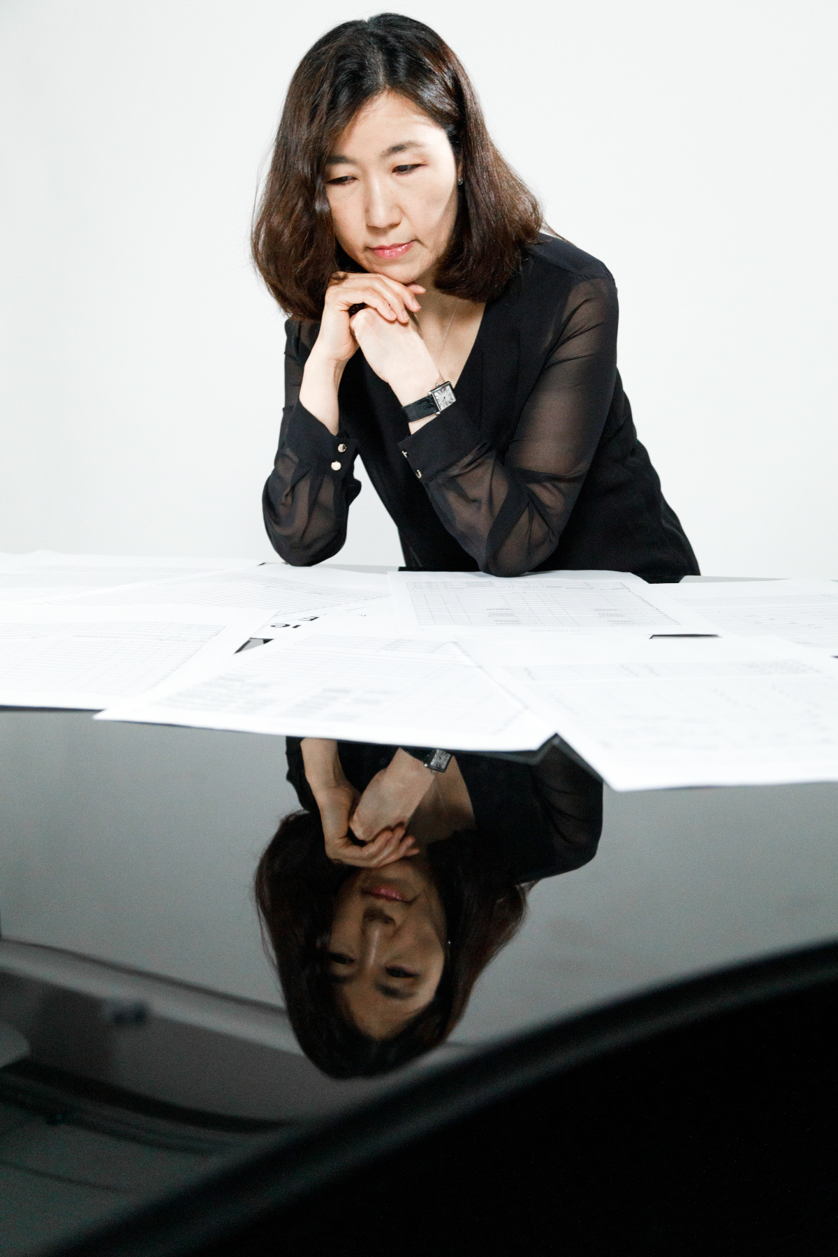 Misook Kim at the piano